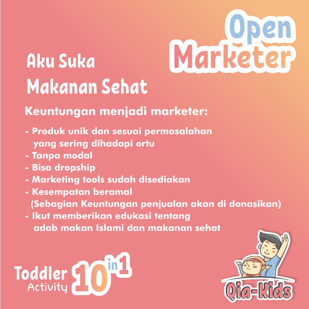 Qia kids open marketer - manfaat